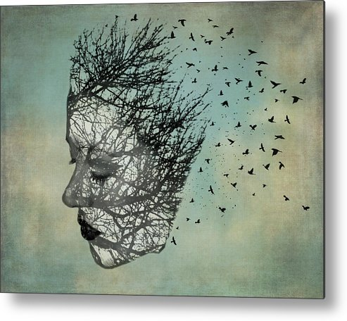 Lady Metal Print featuring the photograph Bird Lady by Diana Boyd