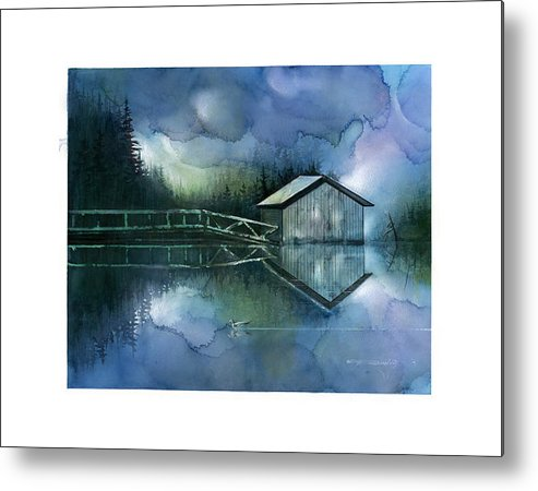 Seescape Metal Print featuring the painting Blue Rapsody by Dumitru Barliga