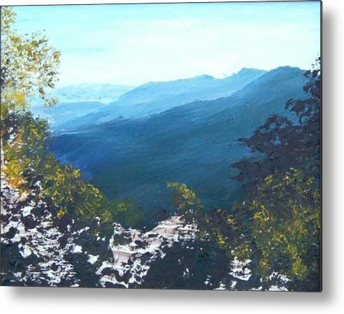 Landscape Metal Print featuring the painting Blue Ridge by Tami Booher