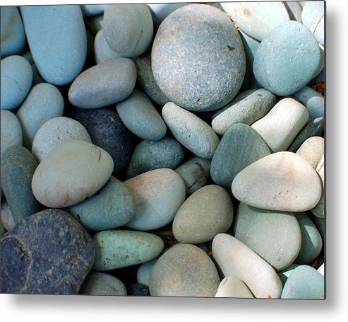 Blue Metal Print featuring the photograph Blue Stones From Bali by Heather S Huston