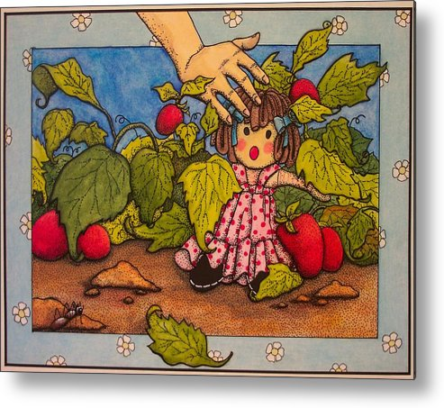 Children Metal Print featuring the painting Book Illustration by Victoria Heryet