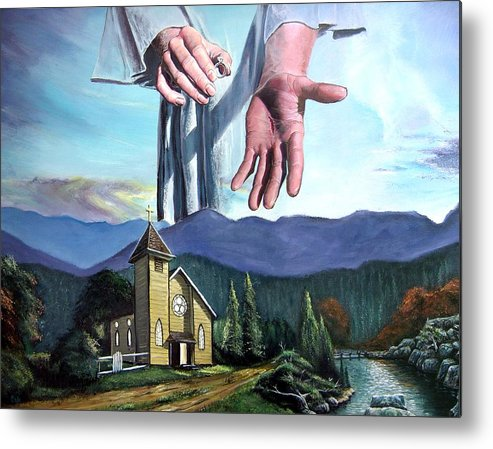 Bridegroom Metal Print featuring the painting Bridegroom by Larry Cole