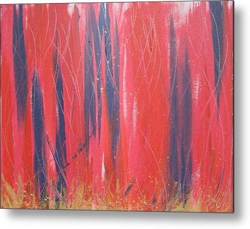 Blue Metal Print featuring the painting Bright Light by Jolene Courtemanche