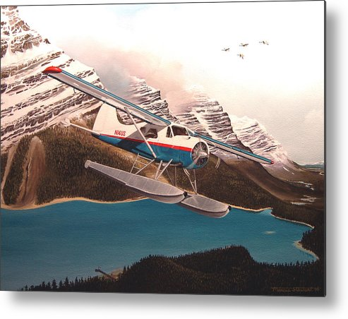 Aviation Metal Print featuring the painting Bringing Home The Groceries by Marc Stewart