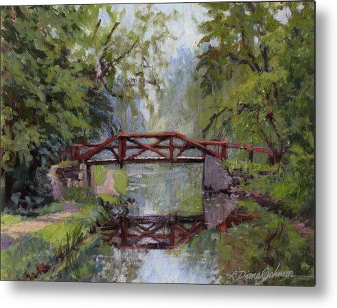 Pennsylvania Metal Print featuring the painting Bucks County Days by L Diane Johnson