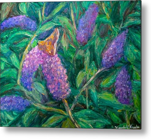 Butterfly Metal Print featuring the painting Butterfly View by Kendall Kessler
