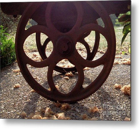 Old Metal Print featuring the photograph Cartwheel by Joan Ouchida