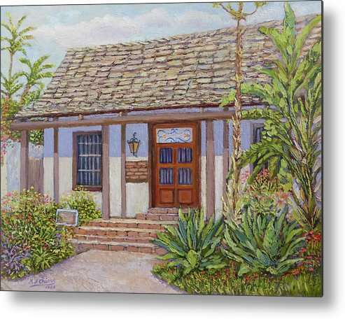 Old Town Metal Print featuring the painting Casa De Miguel Pedrorena by Miguel A Chavez
