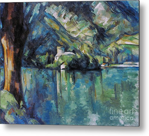 1896 Metal Print featuring the photograph Cezanne: Annecy Lake, 1896 by Granger
