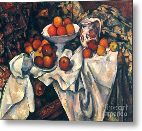 1890s Metal Print featuring the photograph Cezanne: Still Life, C1899 by Granger