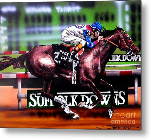 Racing Metal Print featuring the painting Cigar by Dave Olsen