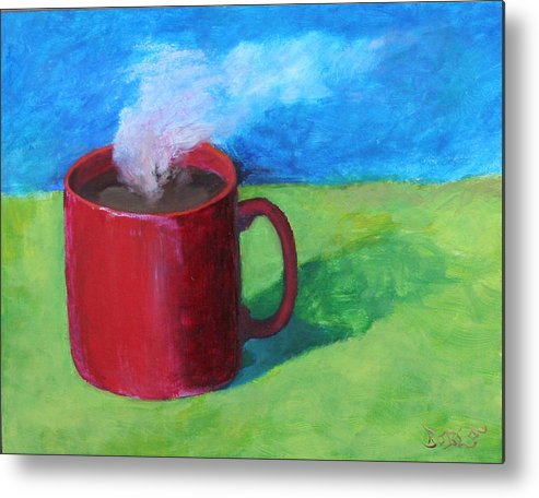 Landscape Metal Print featuring the painting Coffee Landscape by Rf Hauver