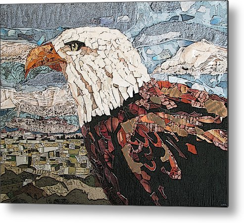 Eagle Metal Print featuring the mixed media Consumer Eagle Veiw by Alicia LaRue