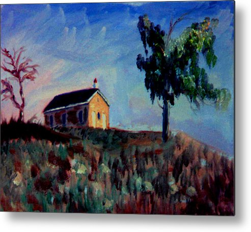 School House Metal Print featuring the painting Country School House by Stan Hamilton