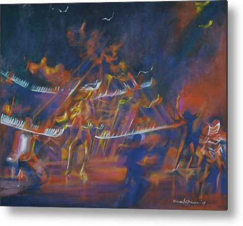 Music And Dance Metal Print featuring the painting Dancin by Howard Stroman