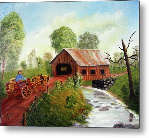 Donkey Metal Print featuring the painting Donkey Freeway by Arno Clabaugh