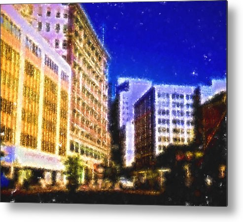 Metal Print featuring the digital art Downtown Seattle by Cathy Anderson