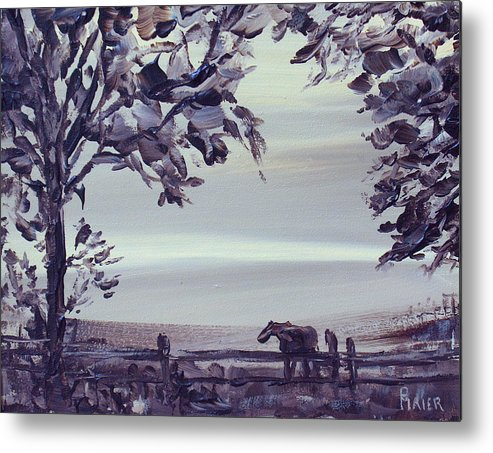 Horse Metal Print featuring the painting Dreamin by Pete Maier