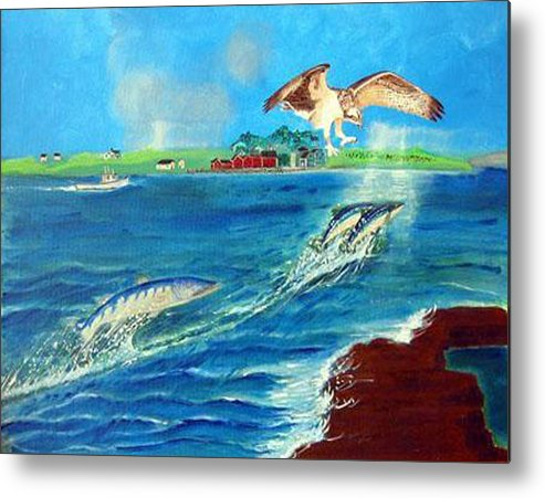 Osprey Metal Print featuring the painting Either Way by Richard Le Page