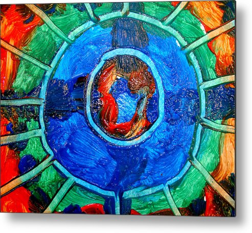 Colors Metal Print featuring the painting Eye Color by Leigh Odom