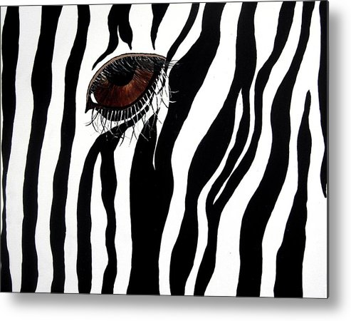 Animal Metal Print featuring the painting Eye Spy 2 by Sharon Supplee