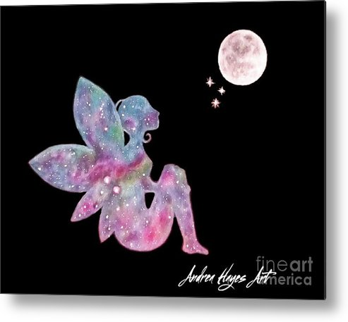 Fairy Metal Print featuring the drawing Faerie Magic by Andrea Hayes