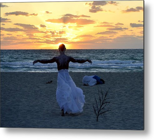 Javier Cordoba Metal Print featuring the photograph Fly To Sun by Lenin Caraballo
