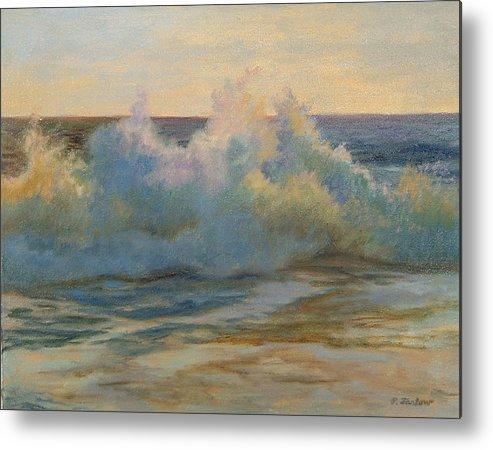 Waves Metal Print featuring the painting Foaming Ocean Waves by Phyllis Tarlow
