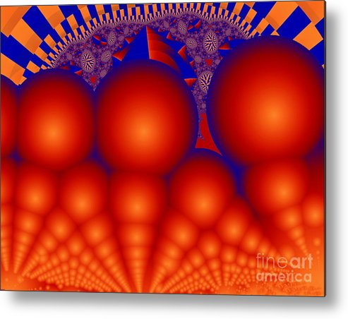 Fractal Image Metal Print featuring the digital art Formation Of Red Orbs by Ron Bissett