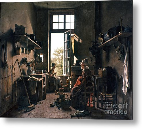 -domestic- Metal Print featuring the photograph French Kitchen by Granger