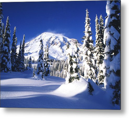Blue Sky Metal Print featuring the photograph Fresh Snow by Eggers Photography