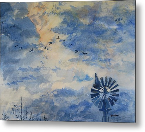 Landscape Metal Print featuring the painting Going Home by Kris Dixon
