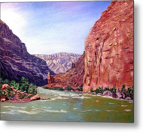 Original Oil On Canvas Metal Print featuring the painting Grand Canyon I by Stan Hamilton