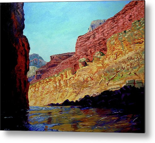 Original Oil On Canvas Metal Print featuring the painting Grand Canyon IIi by Stan Hamilton