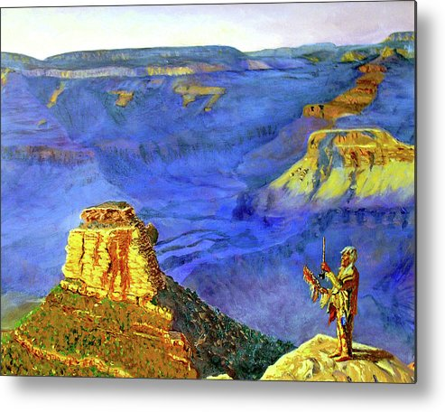 Original Oil On Canvas Metal Print featuring the painting Grand Canyon V by Stan Hamilton