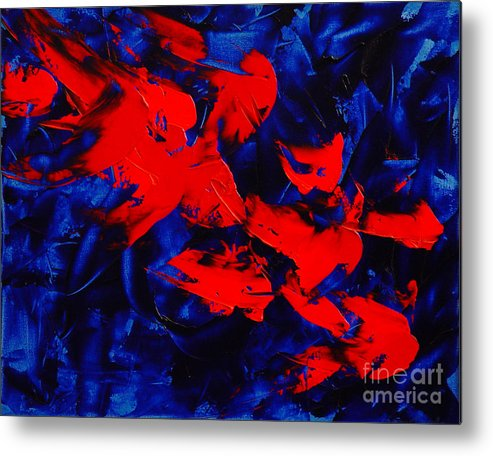 Abstract Metal Print featuring the painting Grandma II by Dean Triolo