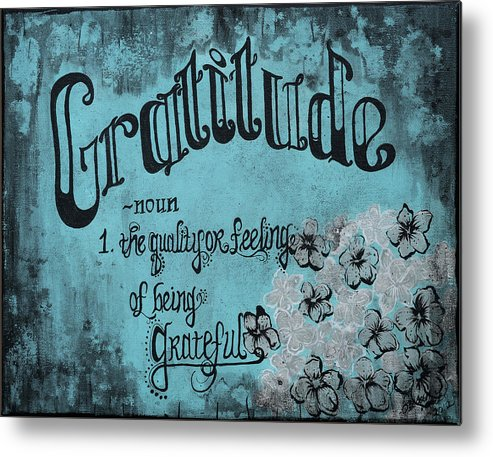 Good Life Metal Print featuring the painting Gratitude by Susan Maki