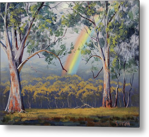 Rural Metal Print featuring the painting Gums With Rainbow by Graham Gercken