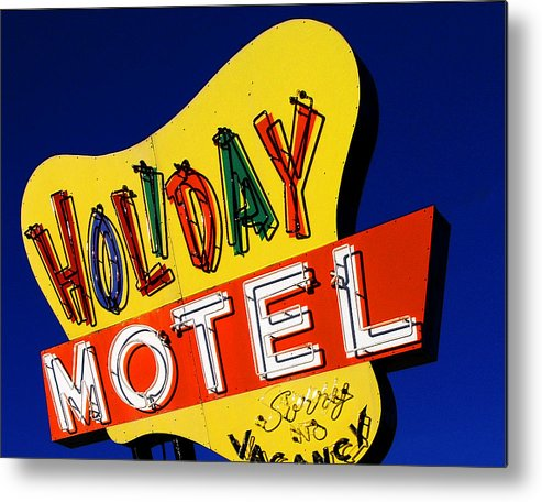 Color Metal Print featuring the photograph Holiday Motel by Curtis Staiger