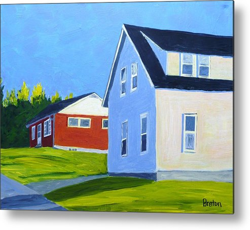 Landscape Metal Print featuring the painting Homage by Laurie Breton