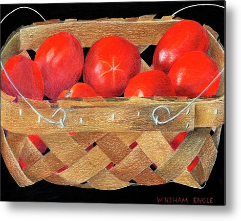 Metal Print featuring the drawing Homegrown by Bethany Windham Engle