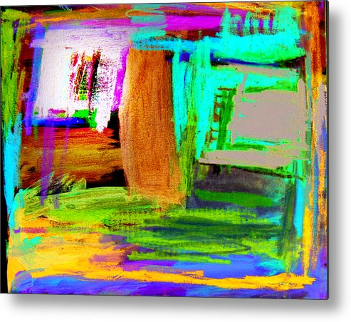 Abstract Metal Print featuring the mixed media House by Alfred Resteghini