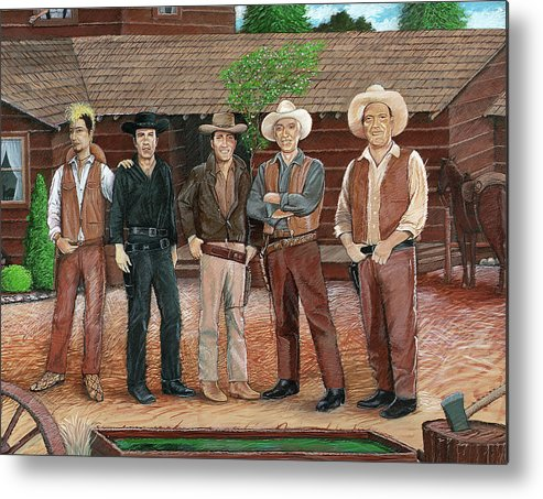 Bonanza Metal Print featuring the painting I Always Wanted To Be A Cartwright by Snake Jagger
