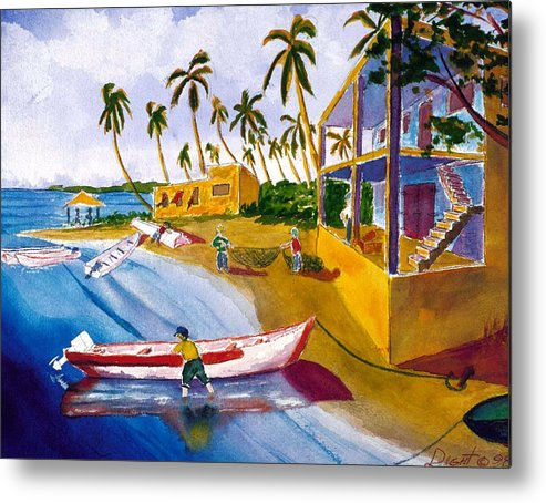 Seascape Metal Print featuring the painting Ice House by Buster Dight