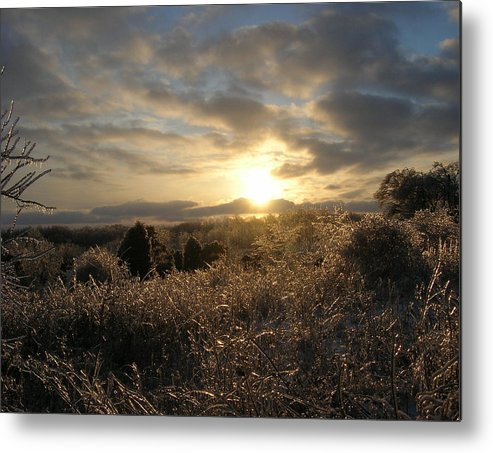 Landscape Metal Print featuring the photograph Ice To Sun by Martie DAndrea