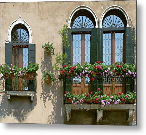 Windows Metal Print featuring the photograph Italian Windows by Julie Geiss