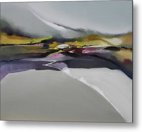 Abstract Metal Print featuring the painting Kenmare by Ronald Dykes