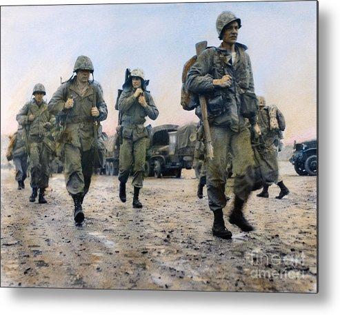 1953 Metal Print featuring the photograph Korean War: Marines, 1953 by Granger