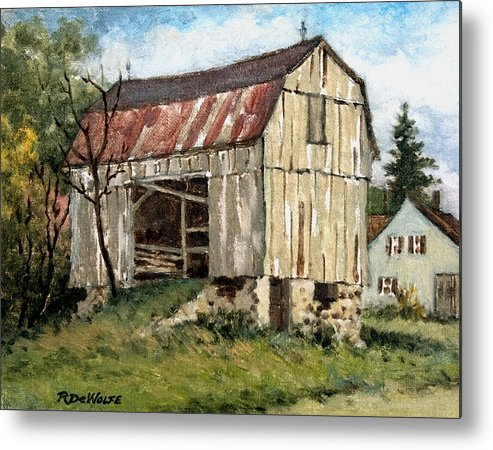 Barn Metal Print featuring the painting Last Legs by Richard De Wolfe