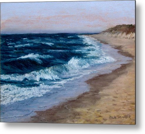 Ocean Metal Print featuring the painting Late Spring At Cold Storage Beach by Jack Skinner